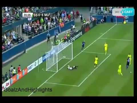 Seattle Sounders Vs Manchester United  0-7,  2011  Goals and highlights