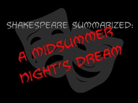 Shakespeare Summarized: A Midsummer Night's Dream