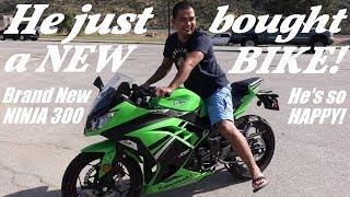 8. 2014 Kawasaki Ninja 300! He just bought a motorcycle! A Beginner's Bike