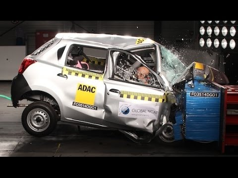 DATSUN GO fails crash test – zero star safety rating