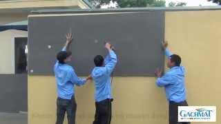 Hướng dẫn thi công chống nóng cách nhiệt bằng Gachmat cho tường ngoài trời
