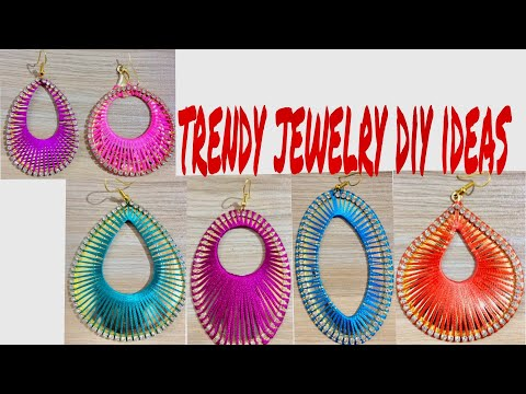 trendy jewelry diy ideas ||  silk thread earrings new designs || Handmade silk thread earrings