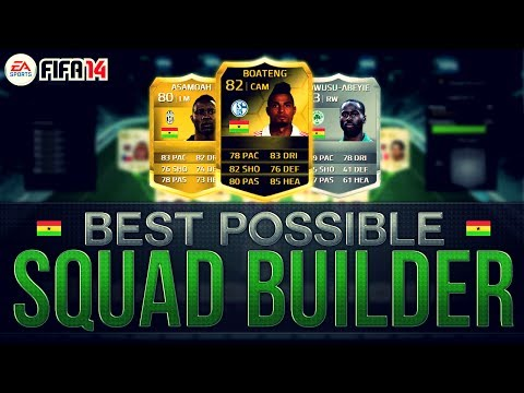 Смотреть онлайн видео BEST POSSIBLE GHANA TEAM! w/ IF BOATENG | FIFA 14 Ultimate Team Squad Builder