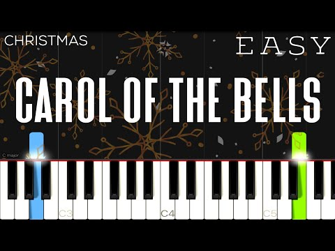Christmas - Carol Of The Bells | EASY Piano Tutorial