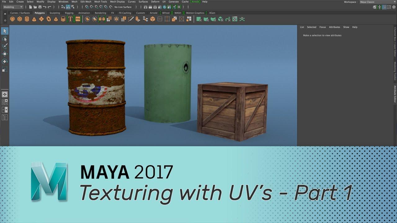 basics 3d texturing maya tutorial