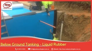 WATERPROOFING - Below Ground Tanking-Basement & Retaining Wall with Spray Applied Liquid Rubber