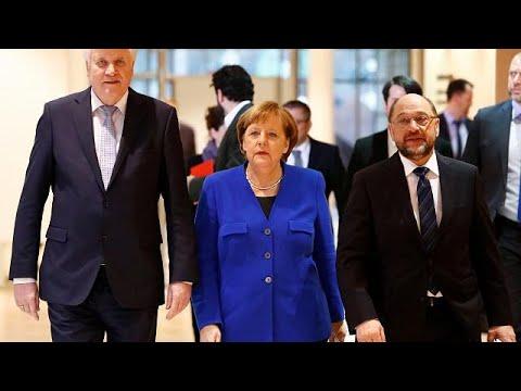 Γερμανία: Προκαταρκτική συμφωνία Μέρκελ – Σουλτς για «μεγάλο» συνασπισμό…