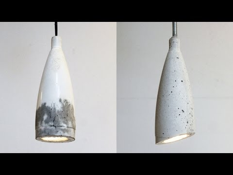Homemade Modern, Episode 9 -- DIY concrete pendant lamp