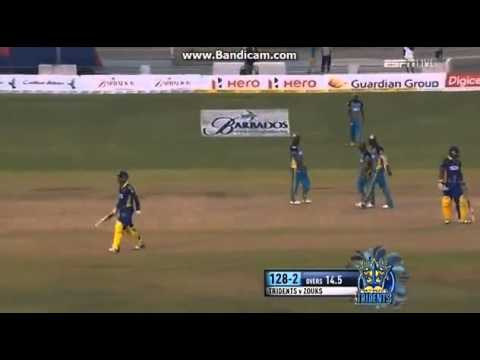 Shoaib Malik  Tino Best Fight  CPL 2014  Match 10