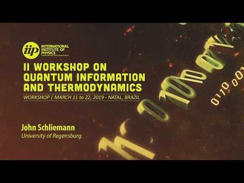 Entanglement Thermodynamics - John Schliemann