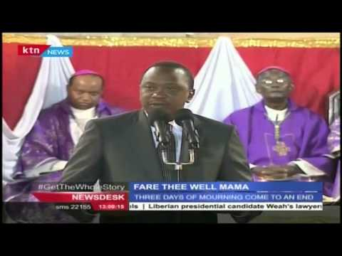 Ruto and Uhuru pay their last respects to the Late Mama Lucy Kibaki