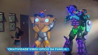 Criatividade: bauruense transforma sucata em robôs animadores de eventos
