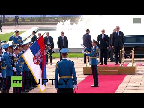 Liberation - Russian President Vladimir Putin arrives in Belgrade on October 16. Putin is expected to meet Serbian President Tomislav Nikolic and Prime Minister Aleksandar Vucic at the Palace of Serbia,...