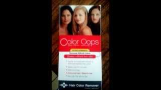 Using Color Oops Hair Color Remover on Red Hair - YouTube