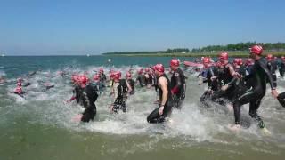 2e teamwedstrijd Almere DUIN, zwemstart