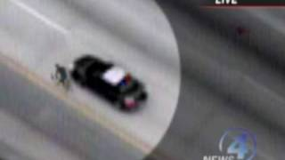 Man On Road Bike Escapes From Police Car! Unbelievable!
