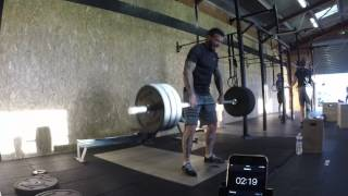 WOD1 : - de 0 à 3 min : max calories Row - de 3min à 6min : trouver le poids max pour ce complex : 1 squat clean + 1 front squat + 1 hang squat clean Score ...