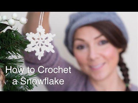 uncinetto - come realizzare un fiocco di neve
