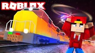 Minecraft Adventure - STEALING THE ROBLOX JAIL BREAK TRAIN!!