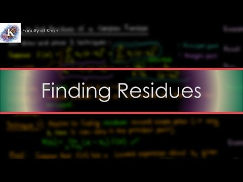 How To Find The Residues Of A Complex Function