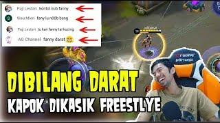 Video AWALNYA DIBILANG FANNY DARAT, BEGITU FREESTYLE HATERS JADI BISU • Mobile Legends Indonesia MP3, 3GP, MP4, WEBM, AVI, FLV November 2018