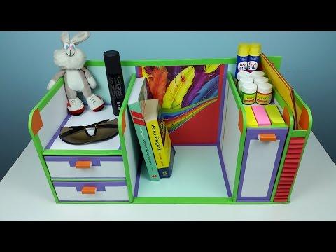 Video DIY desk organizer/ drawer organizer from cardboard. download in MP3, 3GP, MP4, WEBM, AVI, FLV January 2017