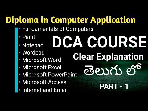 DCA Full Course In Telugu | Computer Basics Part -1 in Telugu | By Immanuel Tech