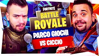 CICCIOGAMER89 vs GABBODSQ SU PARCO GIOCHI! BUILD FIGHT e POMPATE IN FACCIA - Fornite Battle Royale