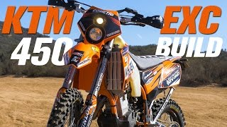 1. KTM 450 EXC Dual Sport Bike Build