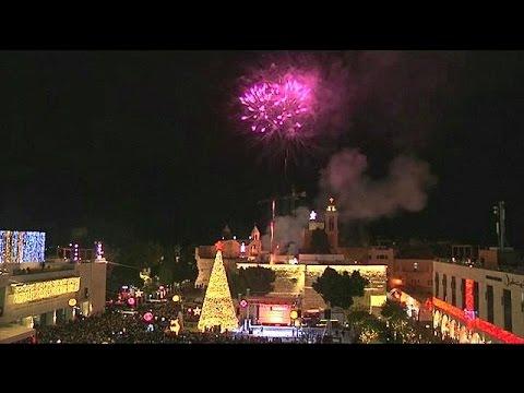 Βηθλεέμ: Άναψαν τα φώτα του δέντρου δίπλα στο Ναό της Γέννησης