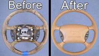 Video How To Restore Your Car's Steering Wheel (Looks Brand New!) MP3, 3GP, MP4, WEBM, AVI, FLV Januari 2019