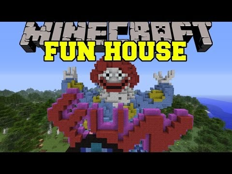Minecraft: FUN HOUSE (A RIDE THROUGH PURE EVIL!) Map