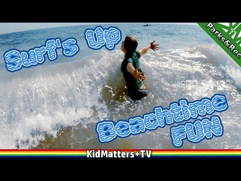 Surf's Up, Beach Time FUN | Misquamicut Beach in Rhode Island [4K] [KM+Parks&Rec S01E17]