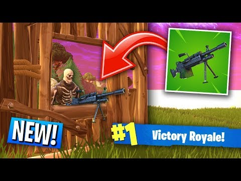 *NEW* LMG Weapon in Fortnite Battle Royale! (MOUNT ON WALLS in Fortnite!) (видео)