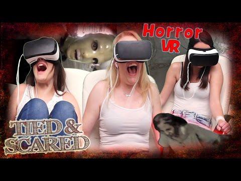 3 Φοιτήτριες στην Κοζάνη, δοκιμάζουν VR εμπειρία τρόμου!