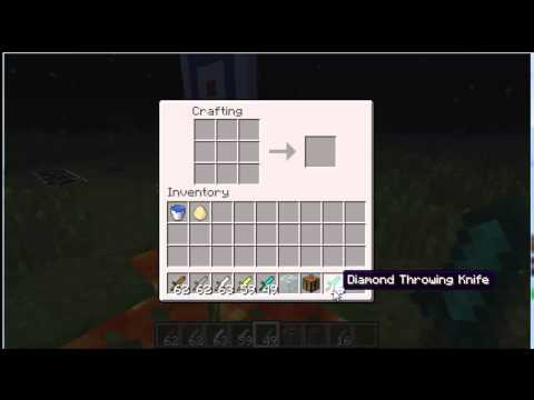 [Minecraft 1.1] Throwing Knives v1.0.1 (Simple Addition)
