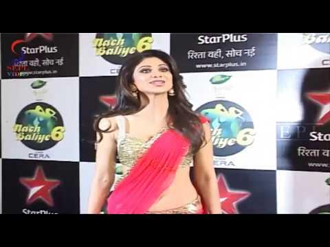 Sexy Shilpa Shetty Hot Juicy Navel Visible In Saree