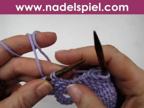 Stricken lernen * Knopfloch längs stricken