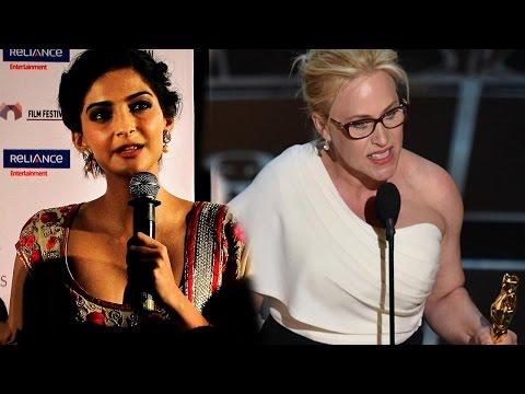 Sonam Kapoor Slams Patricia Arquette For Oscar Spe