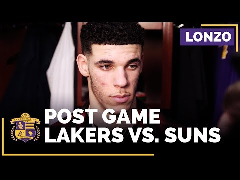 Video: Lonzo Ball On Lakers Defensive Lapses, Lack Of Focus In Loss To Suns