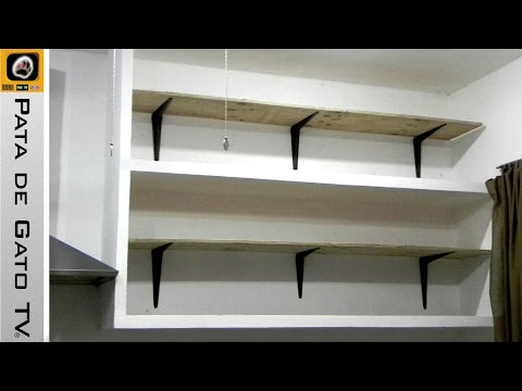 Como hacer e instalar repisas / Build and install shelves