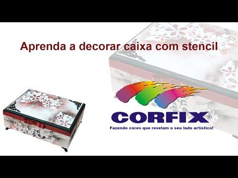 Caixa MDF com Stencil