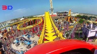 Millennium Roller Coaster 3D Front Seat On-ride HD POV Fantasy Island
