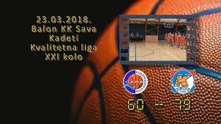 kk sava kk beko 60 79 (kadeti, 23 03 2018 ) košarkaški klub sava