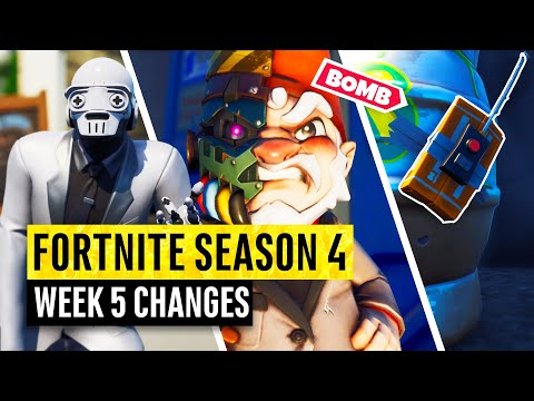 Fortnite | All Season 4 Map Updates and Hidden Secrets! WEEK 5