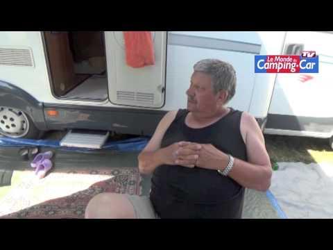 René, ancien  chauffeur routier et désormais camping-cariste