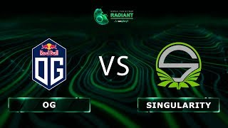 OG vs Team Singularity - RU @Map2 | Dota 2 Tug of War: Radiant | WePlay!