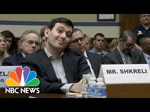 Watch: Martin Shkreli Smirks Through House Hearing On Price Gouging Drug