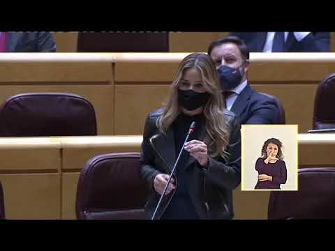 Hoy, en el Pleno del Senado, en una pregunta al vi...