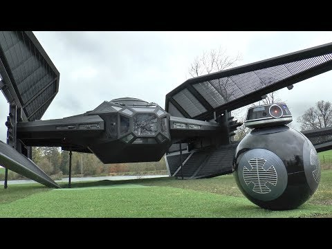 Colin Furze Builds a LifeSize Model of Kylo Ren s TIE Silencer Spacecraft From Star